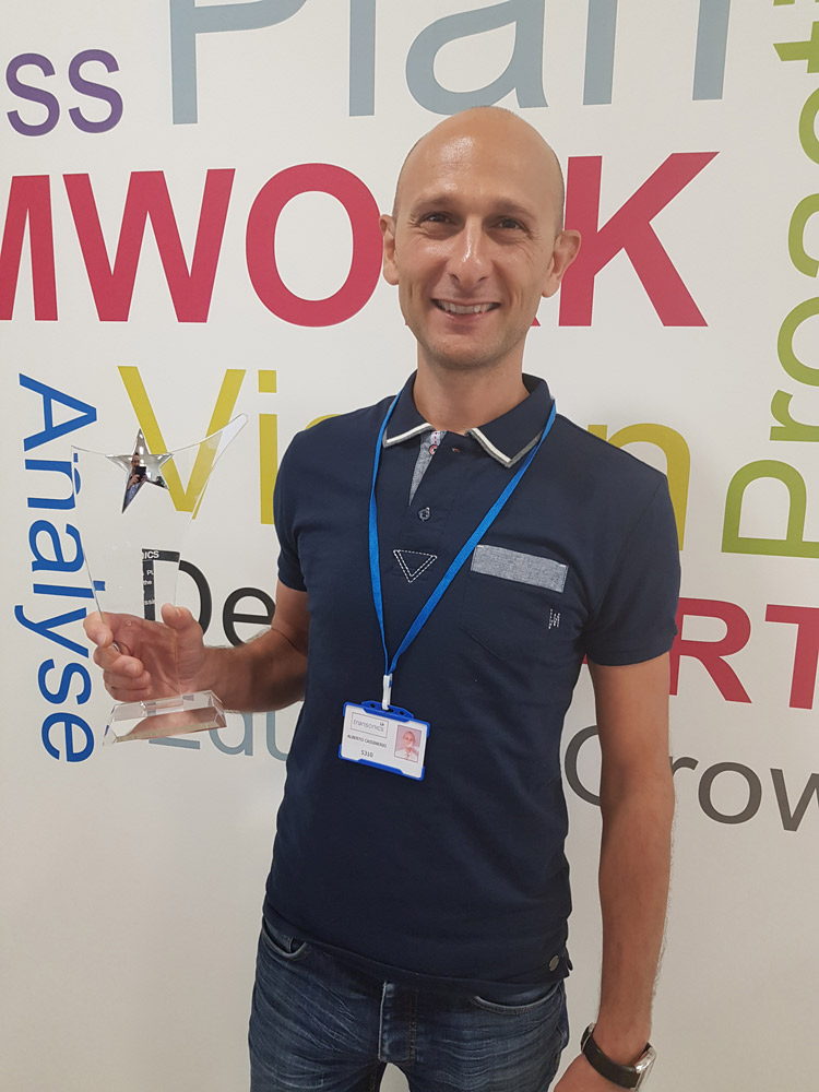 Alberto Cassinerio Transonics Employee of the Year 2019